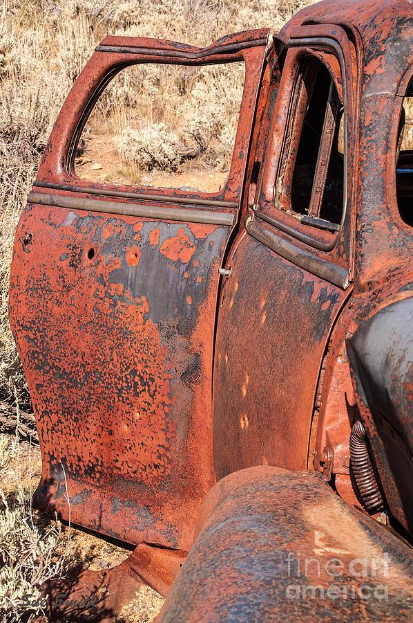 Montana Photograph - Rusty Doors by Sue Smith