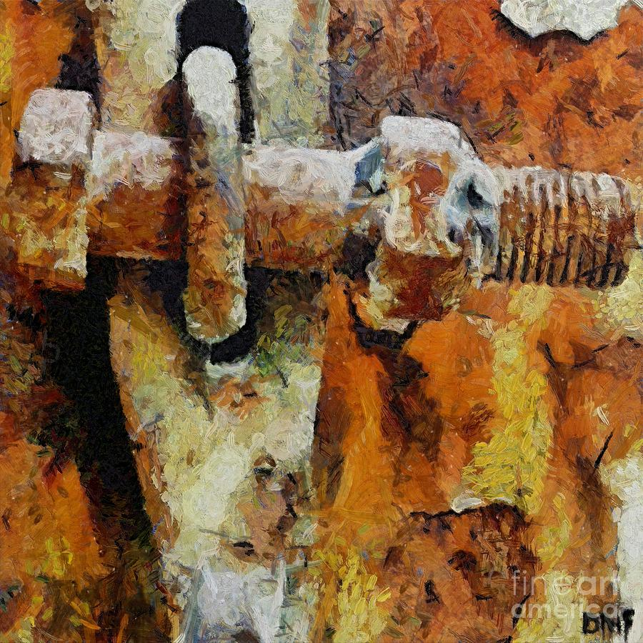Rusty Gate Painting By Dragica Micki Fortuna