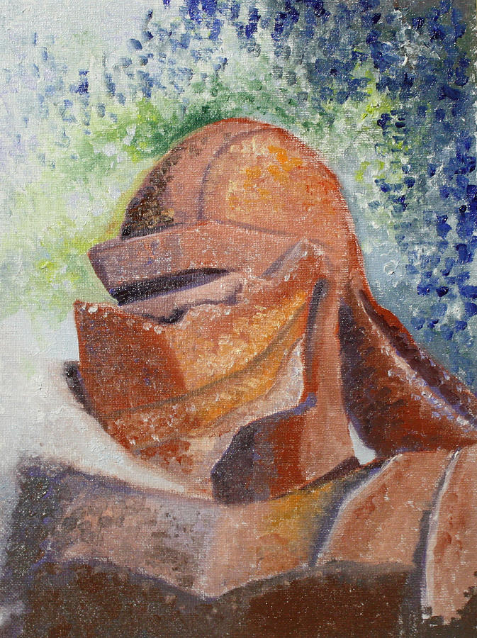 Knight Painting - Rusty by Mary Beglau Wykes