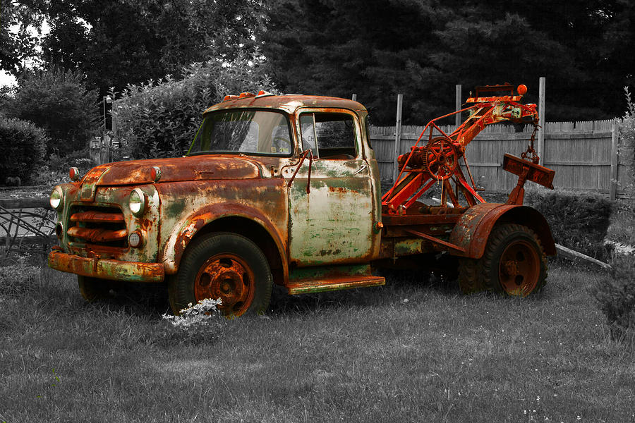 Rusty Tow Truck Photograph by Michael Porchik