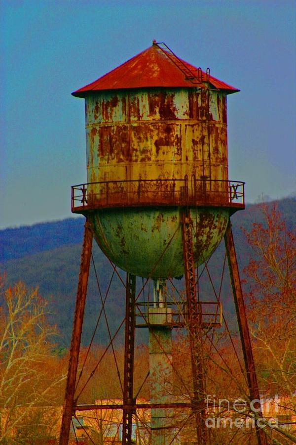 Water Tower Photograph - Rusty Water Tower by Beth Ferris Sale