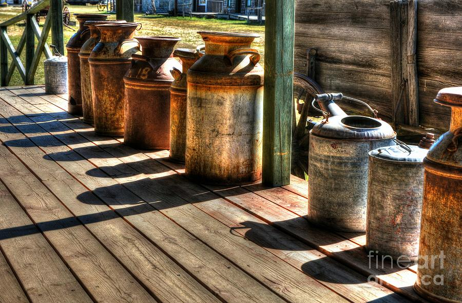 Metal Cans Photograph - Rusty Western Cans 1 by Mel Steinhauer
