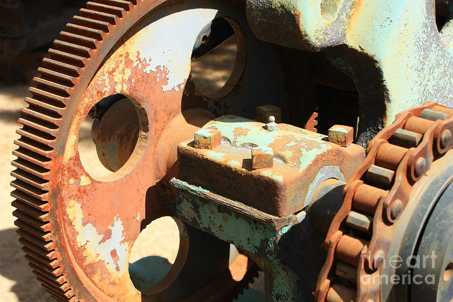 Rust Photograph - Rusty Wheel Gear by Carol Groenen