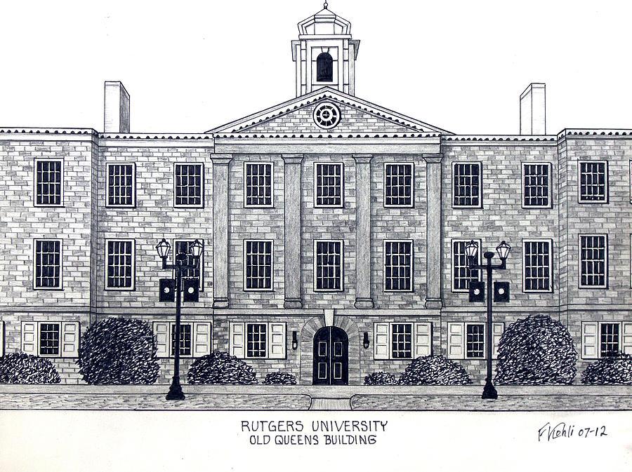 Rutgers University Drawing Drawing - Rutgers University by Frederic Kohli