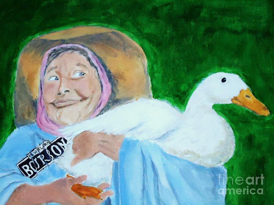 Ruthie Painting - Ruthie The Duck Lady by Katie Spicuzza