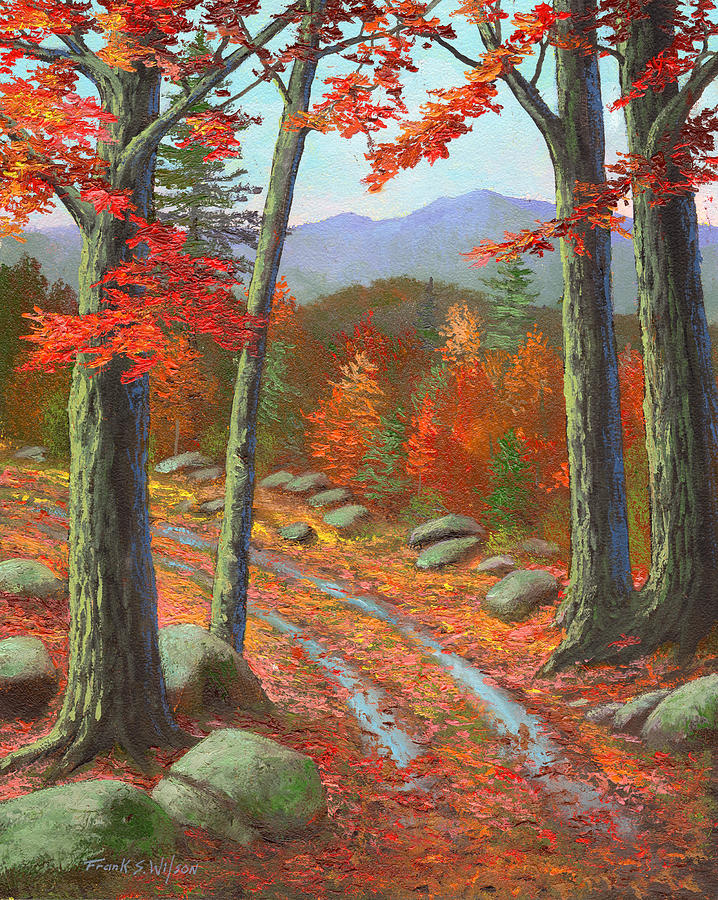 autumn rutted road painting by frank wilson