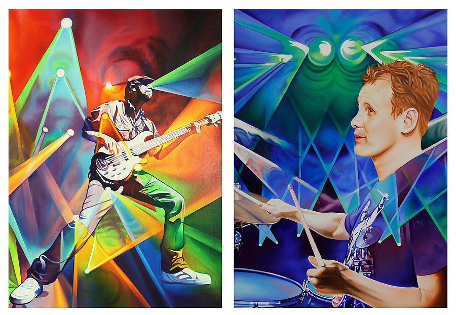 Music Painting - Ryan And Kris by Joshua Morton
