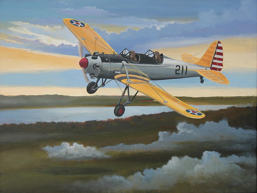 Aviation Painting - Ryan Pt-22 Recruit by Stuart Swartz