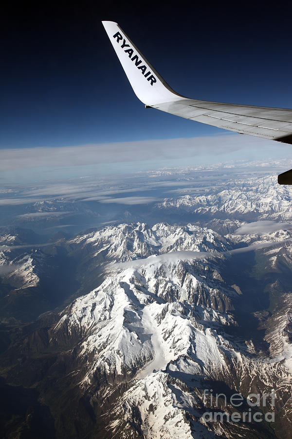 Alps Photograph - Ryanair Over The Alps by Ros Drinkwater