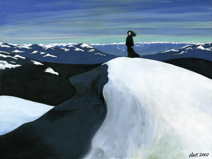 Woman Painting - Ryder On The Mountain by Holly  Whitstock Seeger