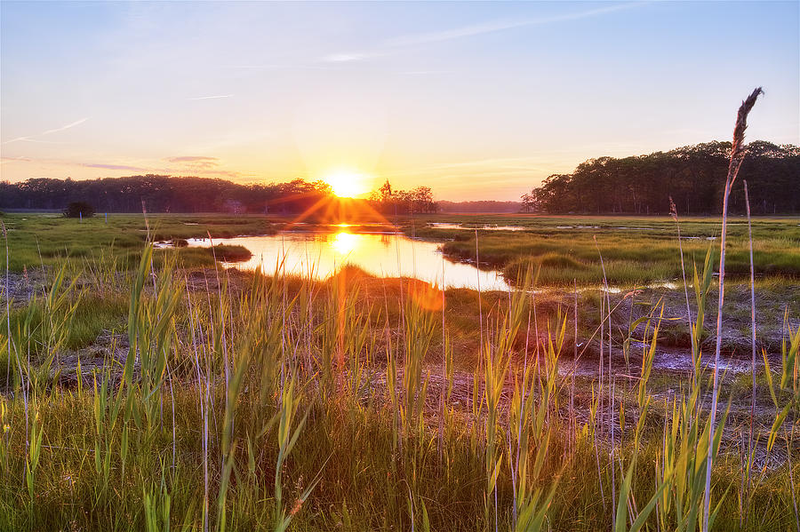 Rye Photograph - Rye Marsh Sunset by Eric Gendron