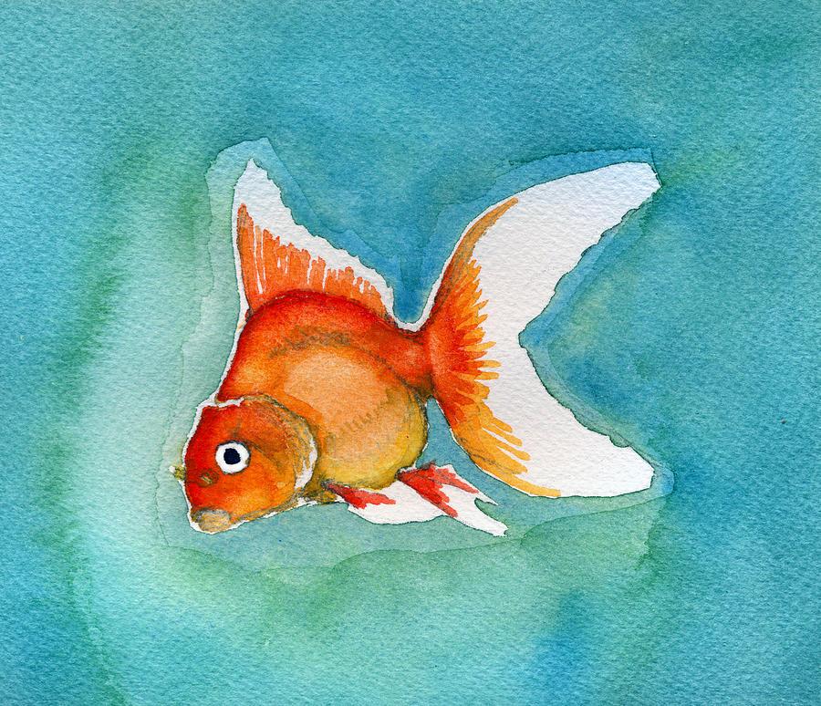 Ryukin Goldfish Painting - Ryukin Goldfish by Katherine Miller