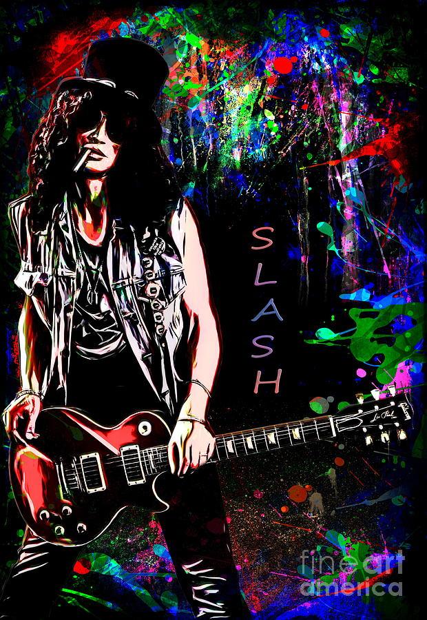 Slash Painting - S L A S H  by Andrzej Szczerski