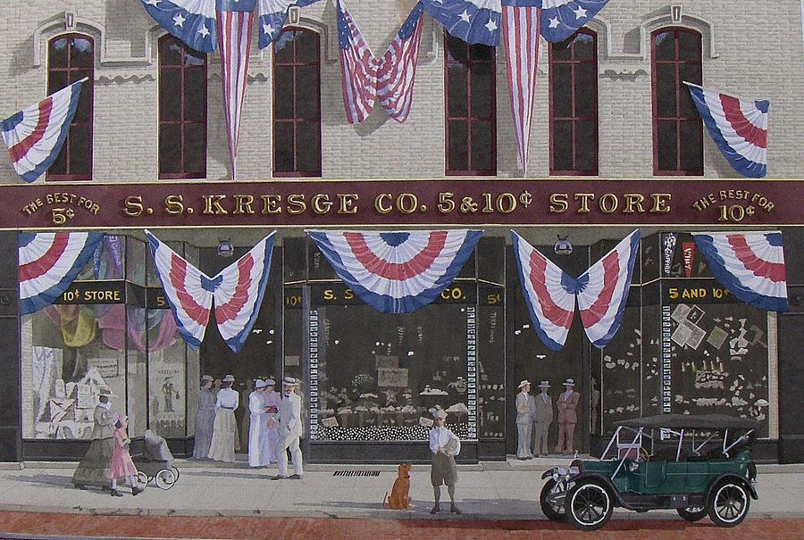 Five And Dime Painting - S. S. Kresge Five And Ten Cent Store by C Robert Follett
