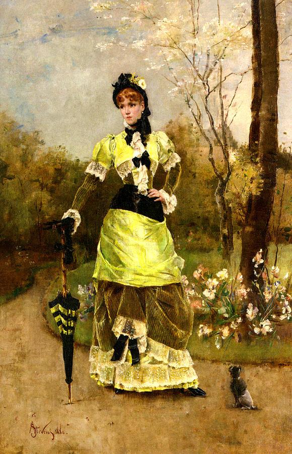 Alfred Stevens Digital Art - Sa Majeste La Parisienne by Alfred Stevens