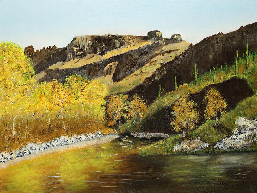 Sabino Canyon Painting - Sabino Autumn by Rich Civiok