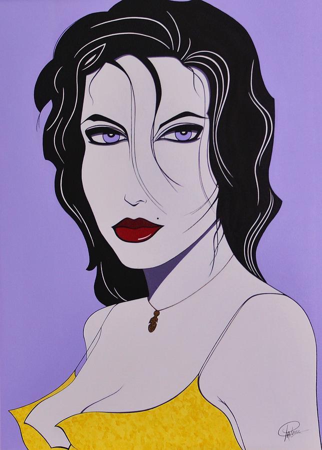 Woman Painting - Sabrina by Patrice Clark
