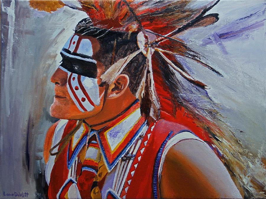 Kansas Painting - Sac and Fox by Lane DeWitt