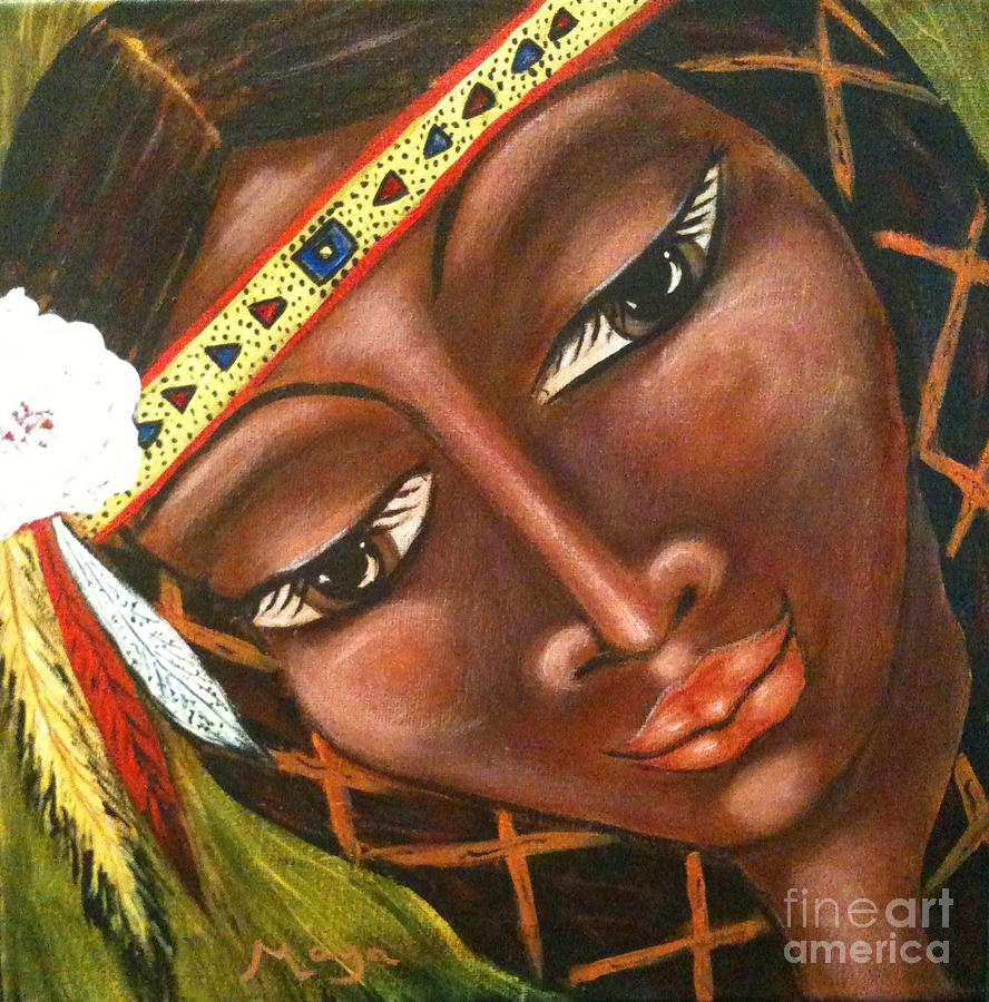 North American History Painting - Sacajawea by Maya Telford