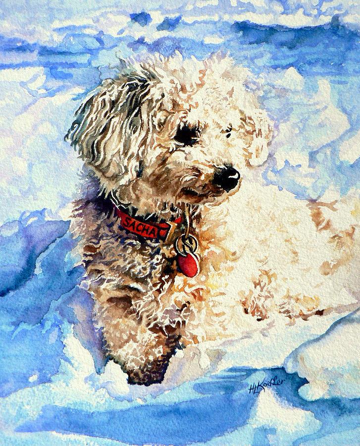 Dog Portrait Painting - Sacha by Hanne Lore Koehler
