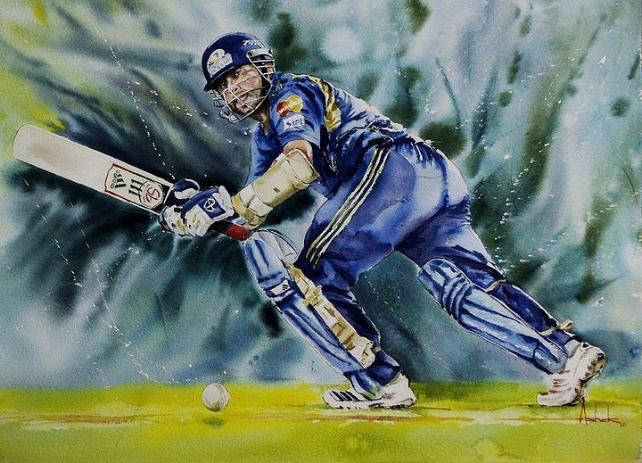 Image result for sachin pics abstract art