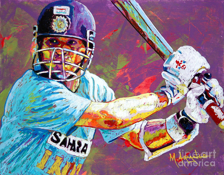 Sachin Tendulkar Painting - Sachin Tendulkar by Maria Arango