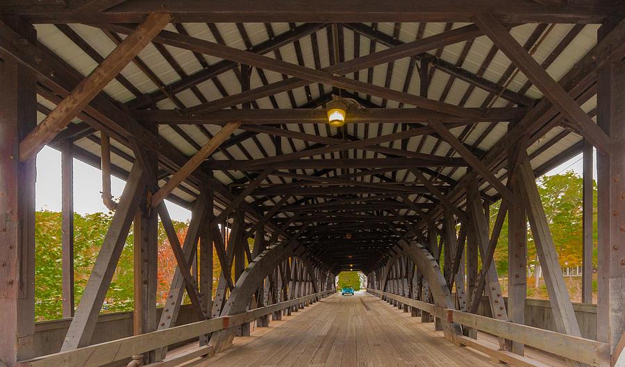 Photo Photograph - Saco River Bridge by Karen Stephenson