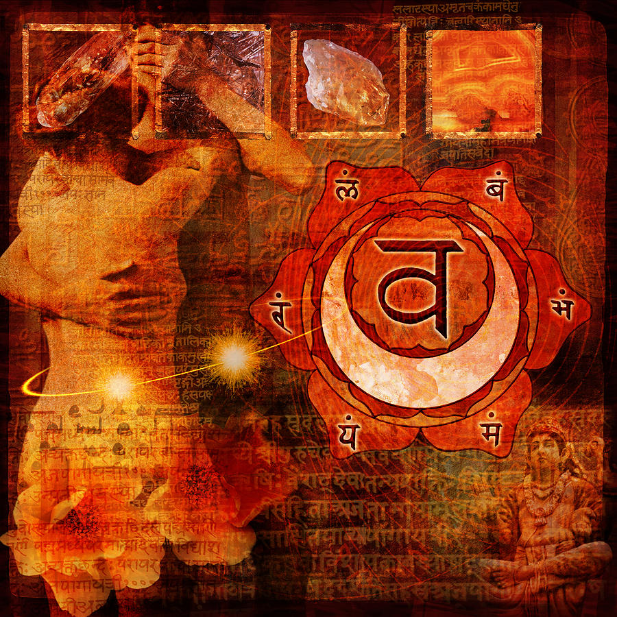 Chakra Digital Art - Sacral Chakra by Mark Preston
