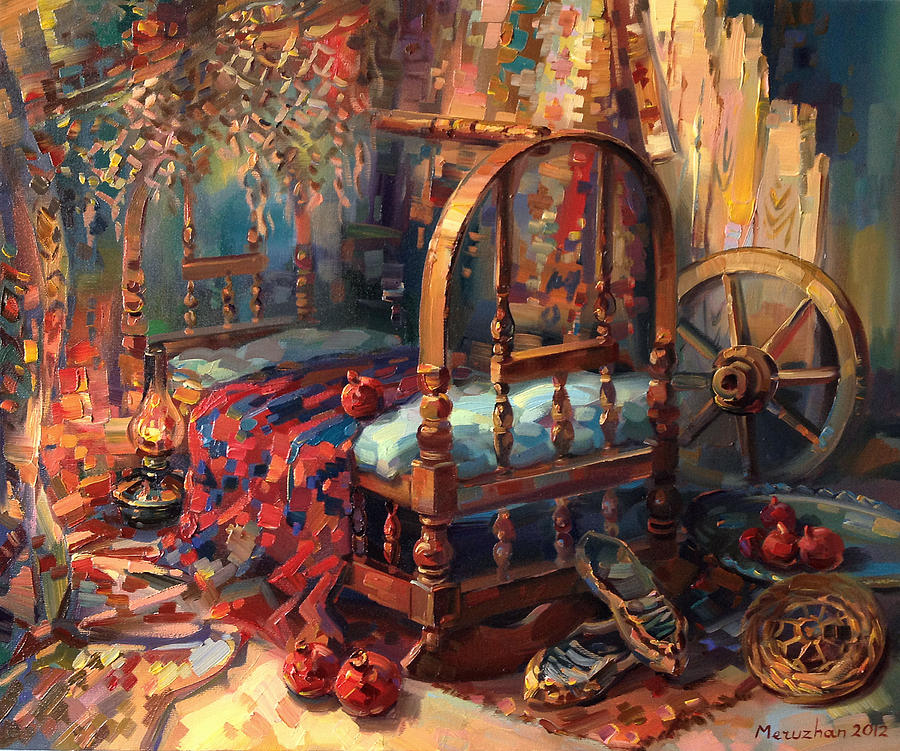 Sacrament Of A Cradle Painting By Meruzhan Khachatryan