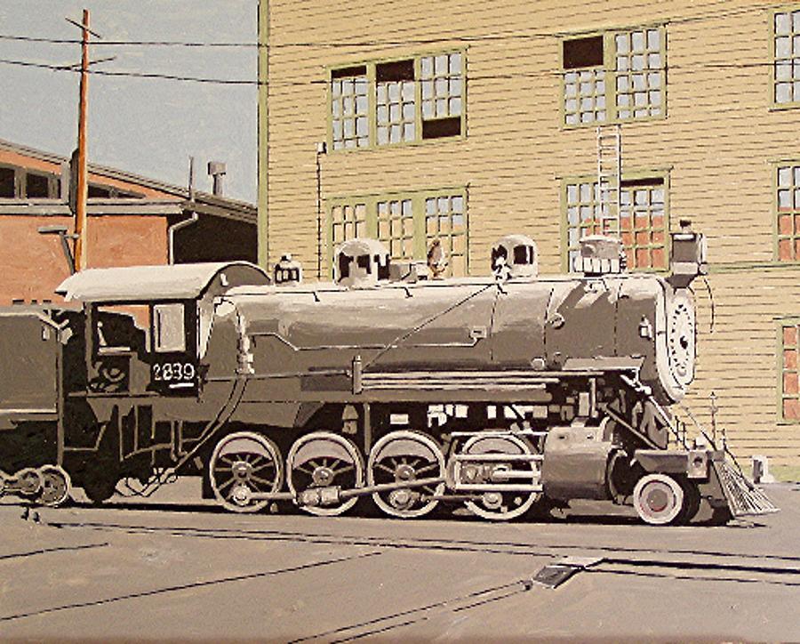 Sacramento Painting - Sacramento Locomotive Works by Paul Guyer