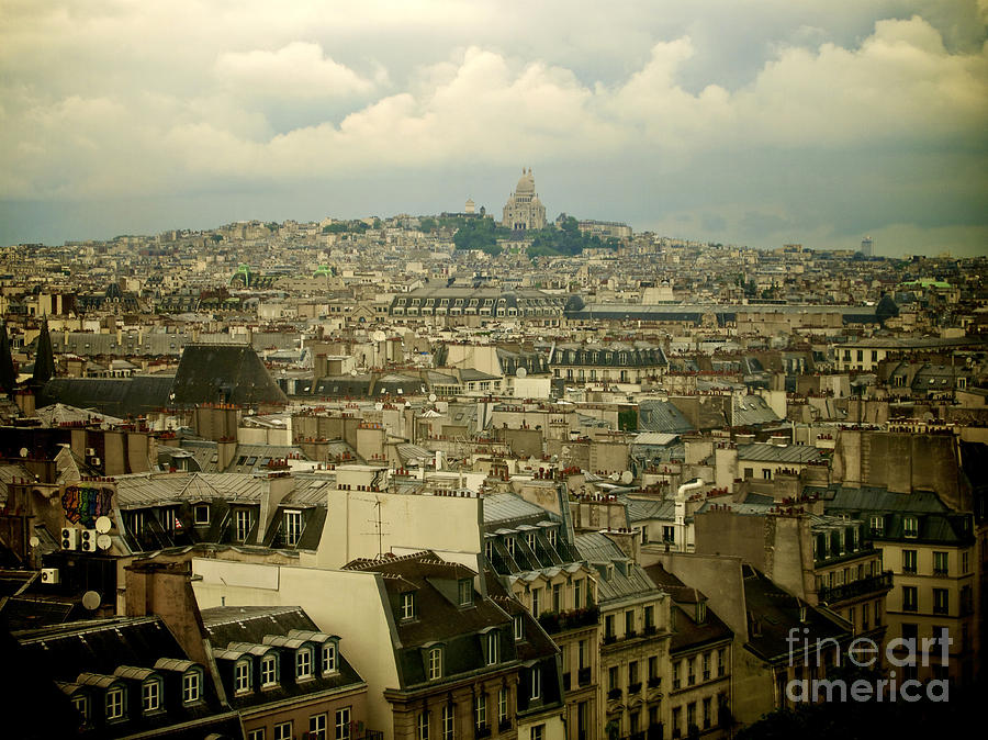 Outdoors Photograph - Sacre-coeur And Roofs Of Paris. France.europe. by Bernard Jaubert