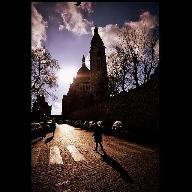 Basilica Photograph - #sacrecoeur #basilica #paris #montmarte by Ozan Goren