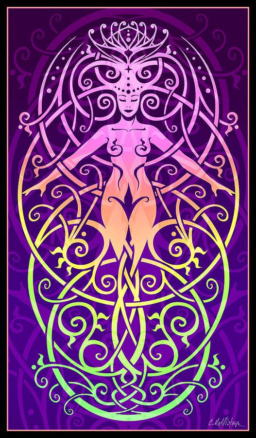 Goddess Digital Art - Sacred Ecology by Cristina McAllister