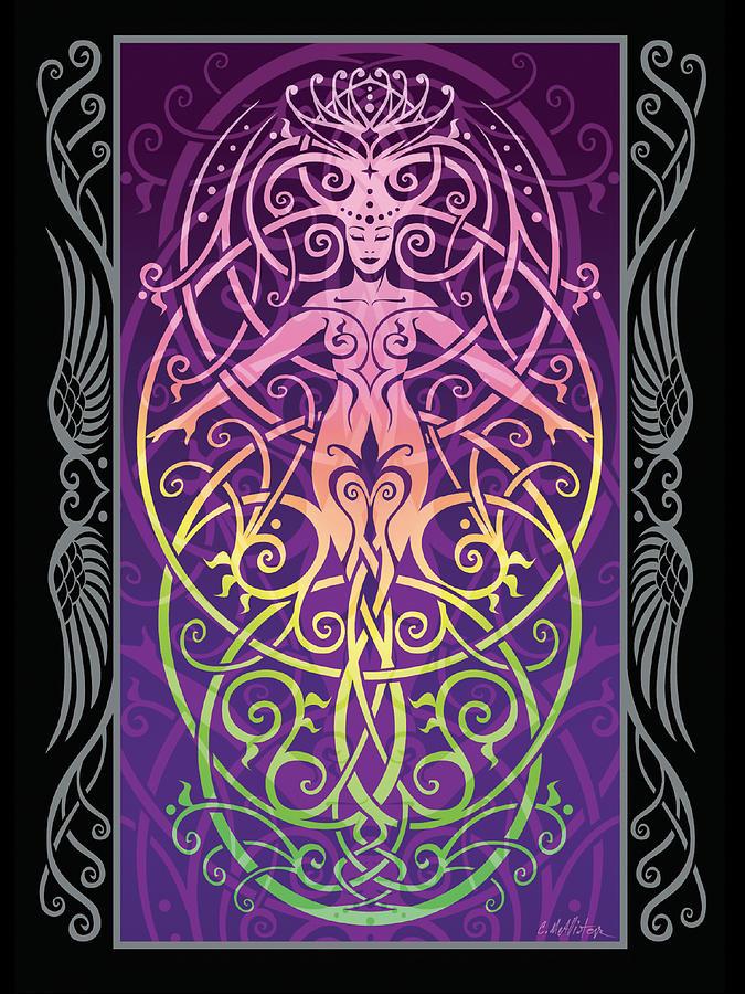 Goddess Digital Art - Sacred Ecology V.2 by Cristina McAllister