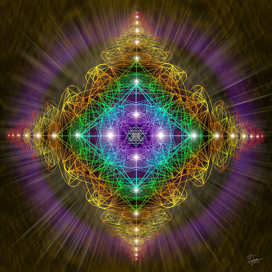 Sacred Geometry 193 Digital Art By Endre Balogh