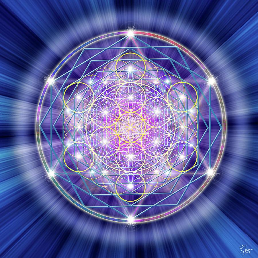 Endre Digital Art - Sacred Geometry 46 by Endre Balogh