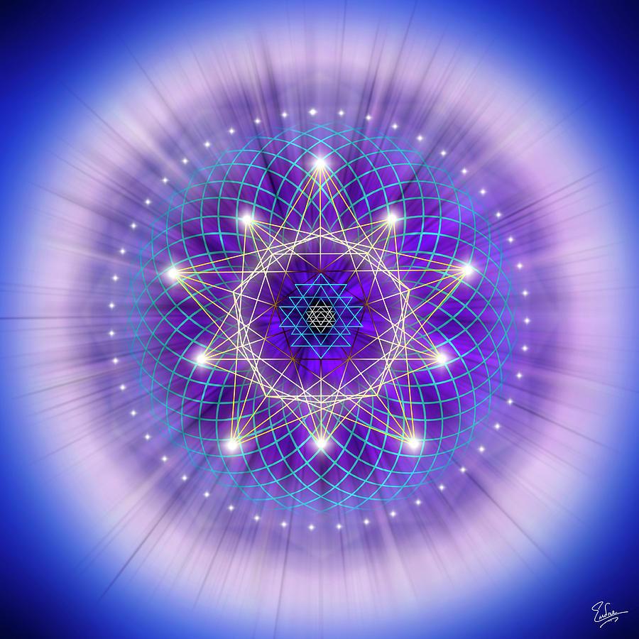 Endre Digital Art - Sacred Geometry 69 by Endre Balogh