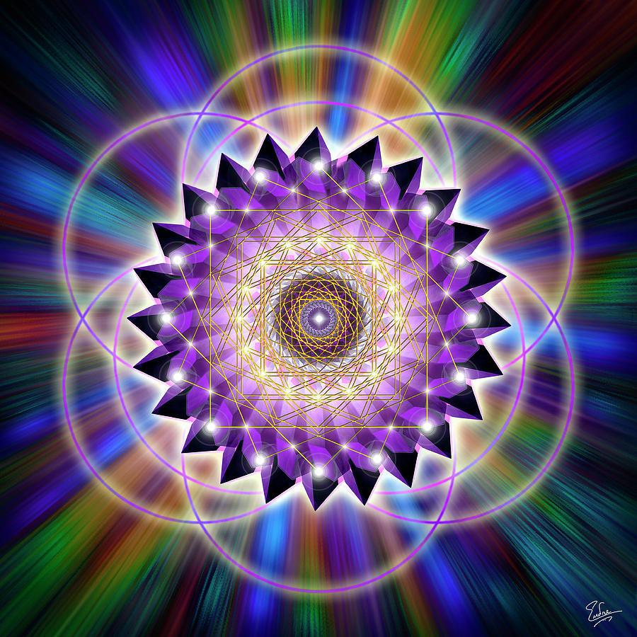 Endre Digital Art - Sacred Geometry 74 by Endre Balogh