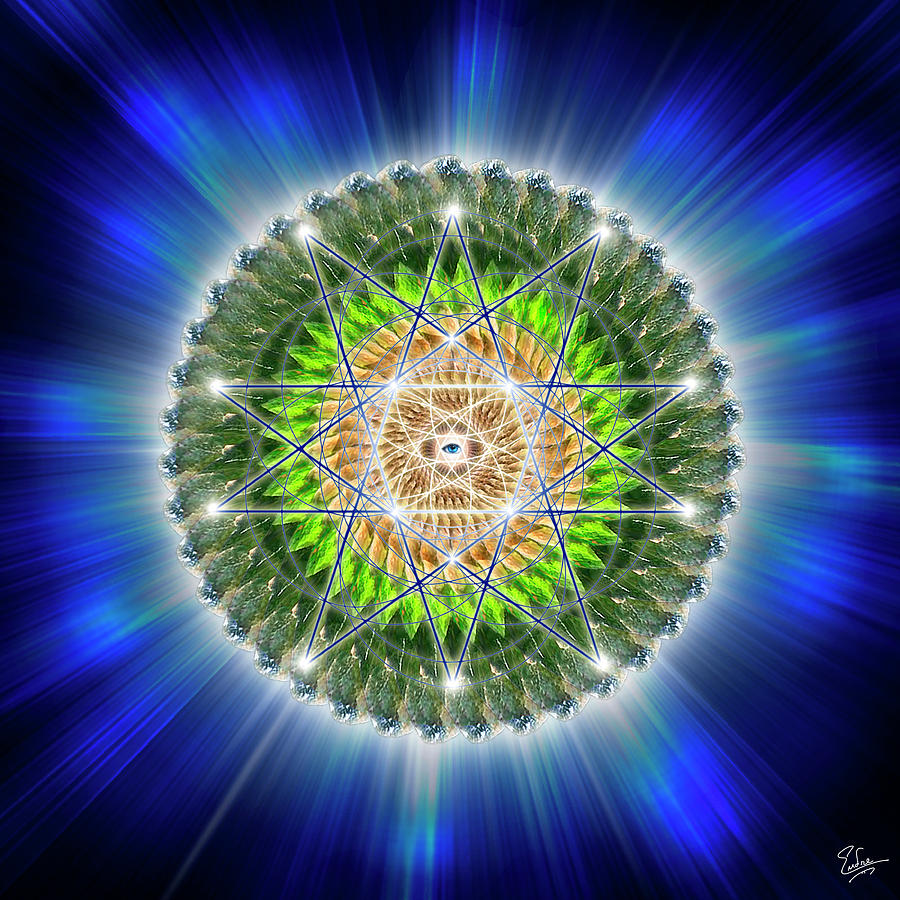 Endre Digital Art - Sacred Geometry 75 by Endre Balogh