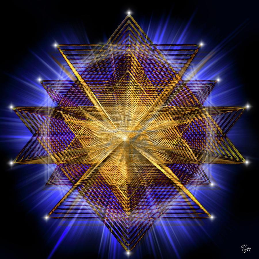 Endre Digital Art - Sacred Geometry 91 by Endre Balogh