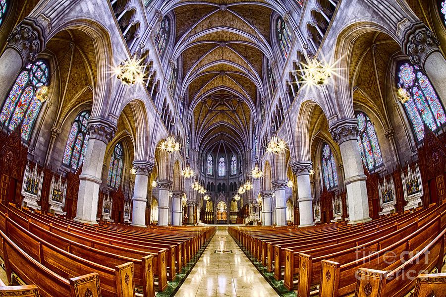 Church Photograph - Sacred Heart Basilica by Jerry Fornarotto