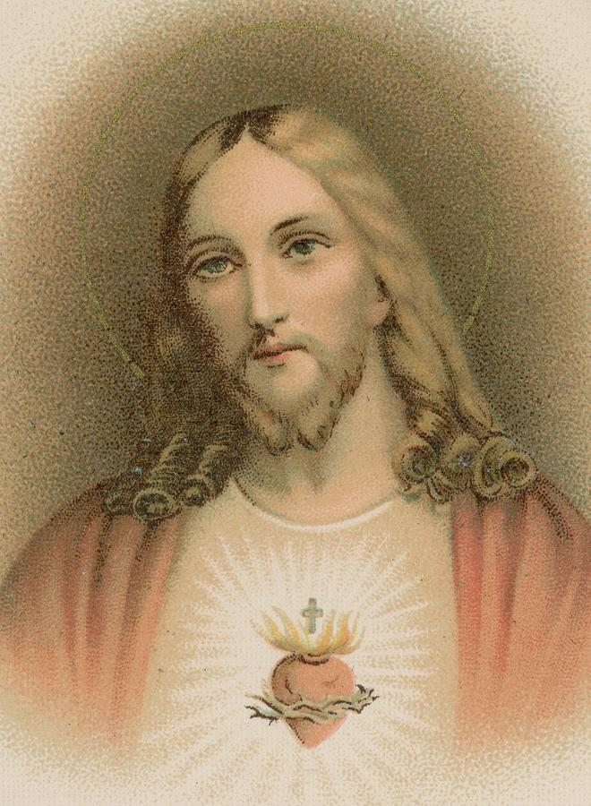 The Sacred Heart Painting - Sacred Heart by French School