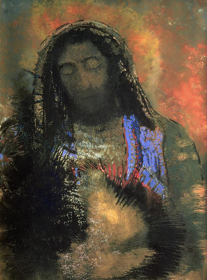 Sacred Heart Painting - Sacred Heart by Odilon Redon