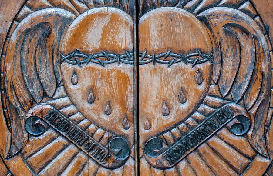 Sacred heart of jesus door carving detail photograph by toma caul church photograph sacred heart of jesus door carving detail by toma caul altavistaventures