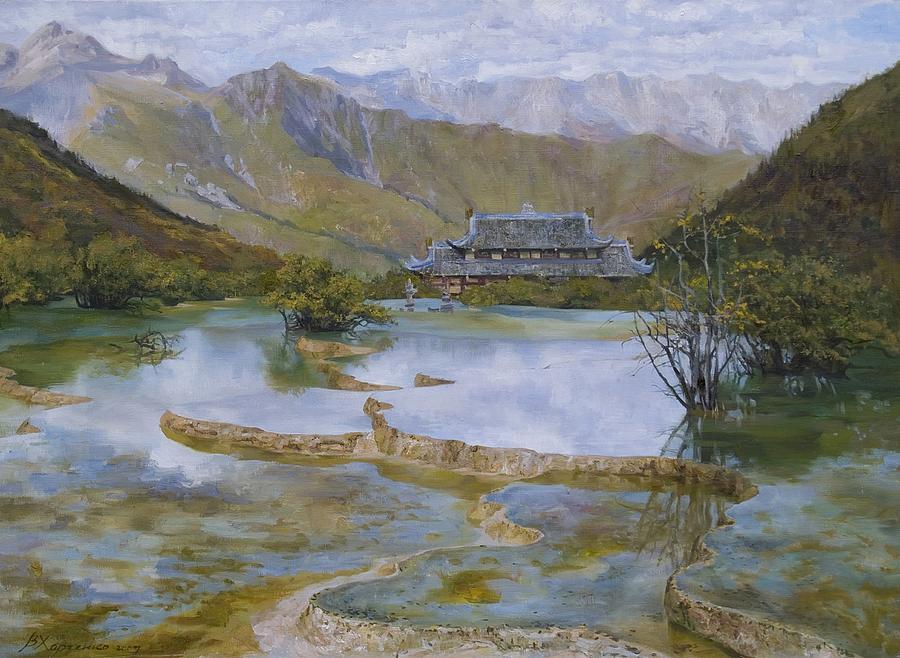 Sacred Lakes Painting