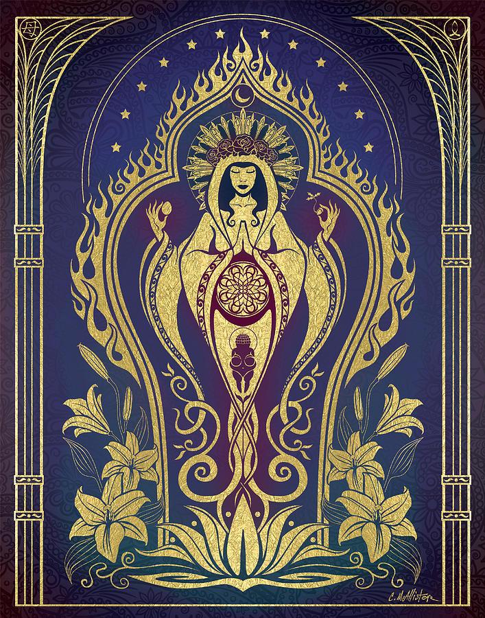 Mother Digital Art - Sacred Mother - Global Goddess Series by Cristina McAllister