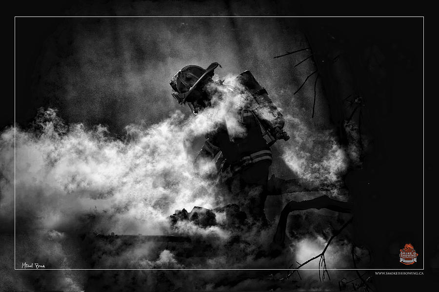Firefighter Photograph - Sacrifice by Mitchell Brown