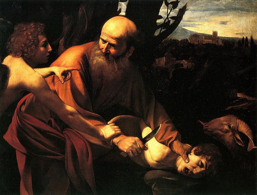 Caravaggio Digital Art - Sacrifice Of Issac by Caravaggio