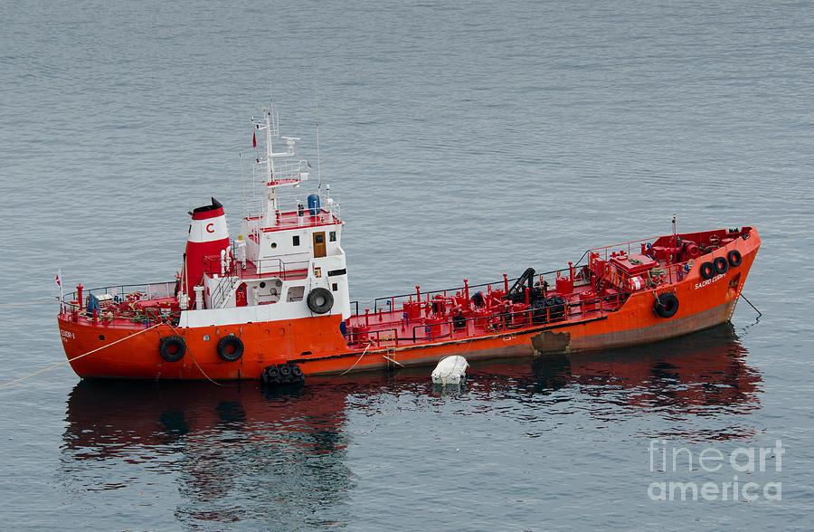 Sacro Cuor 1 Bunkering Oil Tanker Valetta Malta Photograph
