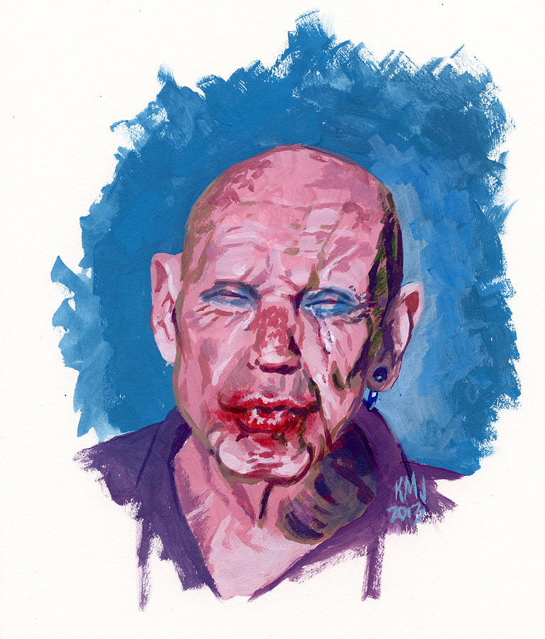 Men Painting - Sad Clown by Ken Meyer jr